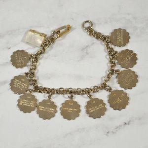 Vintage Ten Commandments Charm Bracelet